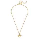 Susan Shaw Gold Plated Racing Horse Pendant Necklace