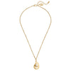 Susan Shaw Gold Plated Oyster and Pearl Pendant Necklace