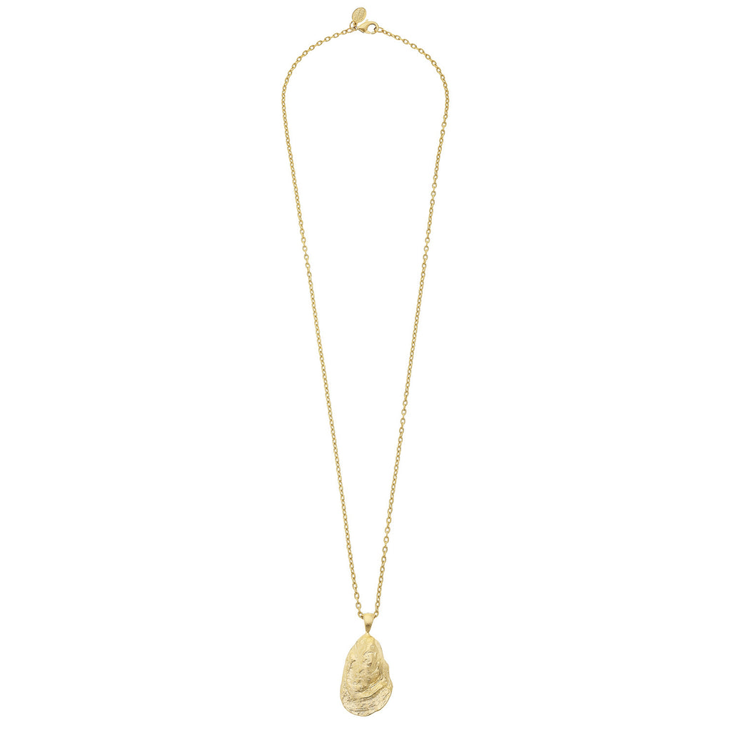 Susan Shaw Handcast Gold Oyster Necklace, 30""