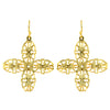 Susan Shaw Jewelry 4 Leaf Clover Fila Earrings in Gold