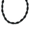 Susan Shaw Jewelry Black Glass Bead Necklace in Gold