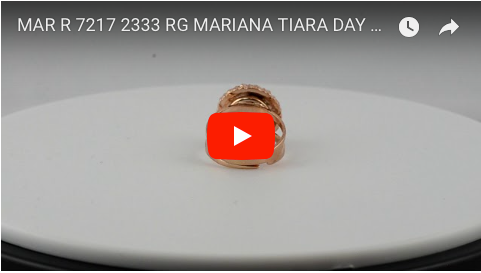 Mariana Jewelry Rose Gold Plated Tiara Day Swarovski Crystal Chrystanthemum Flower Adjustable Ring