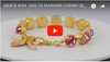 Mariana Jewelry Cherry Blossom Gold Plated Swarovski Crystal Large Gem Tennis Bracelet with Heart, 8