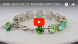 Mariana Jewelry Grace Silver Plated Large Swarovski Crystal Tennis Bracelet