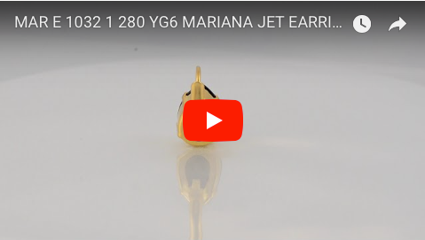 Mariana Jewelry Gold Plated Raindrop Swarovski Crystal Drop Earrings in Jet