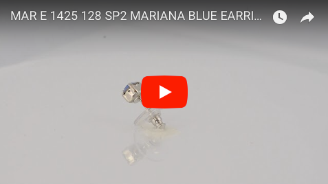 Mariana Jewelry Silver Plated Petite Round Swarovski Crystal Post Earrings in Air Blue Opaque