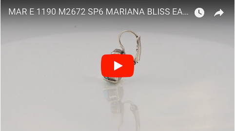 Mariana Jewelry Bliss Silver Plated Swarovski Crystal Drop Earrings