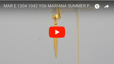 Mariana Jewelry Summer Palace Gold Plated Swarovski Crystal Art Deco Icicle Dagger Drop Earrings