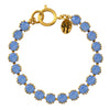 Victoria Lynn Small Cup Chain Bracelet with Air Blue Opal Swarovski Crystal, Gold Plated
