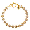 Victoria Lynn Small Cup Chain Bracelet with Golden Shadow Swarovski Crystal, Gold Plated