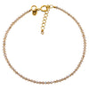 Victoria Lynn Sea Jasper Choker Necklace with Golden Shadow Swarovski Crystal, Gold Plated