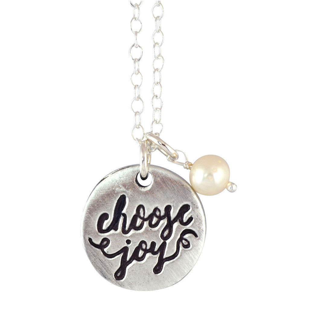 Vp choosejoy the vintage pearl choose joy pearl necklace silver the vintage pearl choose joy pearl necklace silver plated aloadofball