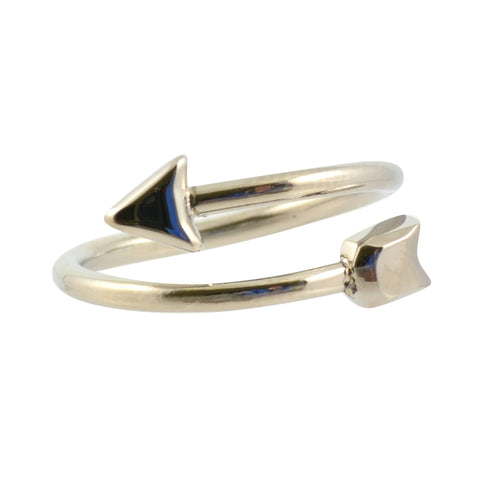 Zenzii Double Head Arrow Ring, Silvertone Size 7