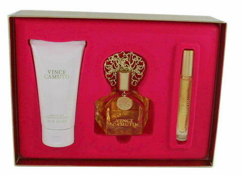 Vince Camuto for Women EDP Spray 3.4 oz  + Rollerball + Lotion 5.0 oz - Gift Set - Cosmic-Perfume