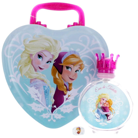 Frozen for Girls by Disney EDT Spray 3.4 oz + Ring + Metal Lunch Box - Gift Set - Cosmic-Perfume