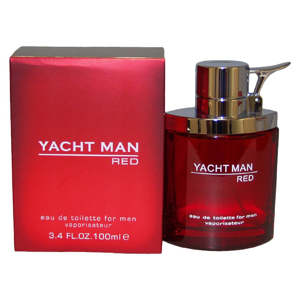 YACHT MAN RED for Men EDT Spray 3.4 oz - Cosmic-Perfume