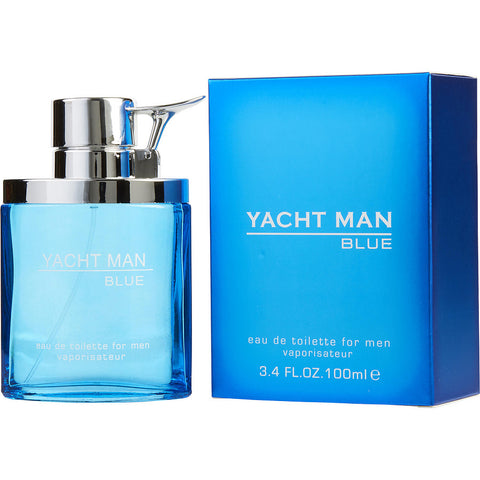 YACHT MAN BLUE for Men EDT Spray 3.4 oz - Cosmic-Perfume