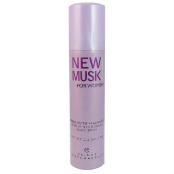 New Musk for Women by Prince Matchabelli Fragrance Body Spray 2.5 Oz - Discount Fragrance at Cosmic-Perfume