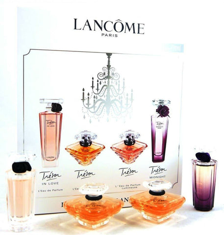 Tresor Variety by Lancome Miniature L'Eau de Parfum Splash 4 pc Set - Discount Fragrance at Cosmic-Perfume - 1