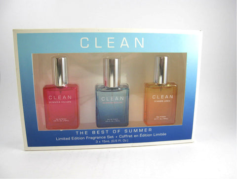 Clean 'The Best of Summer' Ltd Edition Set 3 x 0.5 oz Spray - Imperfect Packaging - Cosmic-Perfume