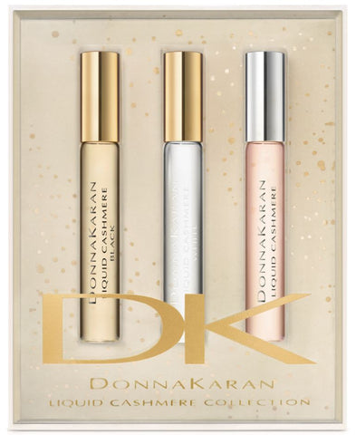 Donna Karan Liquid Cashmere Collection EDP Rollerball 3 pc Gift Set - Discount Fragrance at Cosmic-Perfume