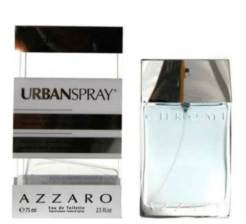 Azzaro Chrome Urban for Men zzaro Eau de Toilette Spray 2.5 oz - Cosmic-Perfume