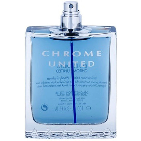 Azzaro Chrome United for Men by Eau de Toilette Spray 3.4 oz (Tester) - Cosmic-Perfume