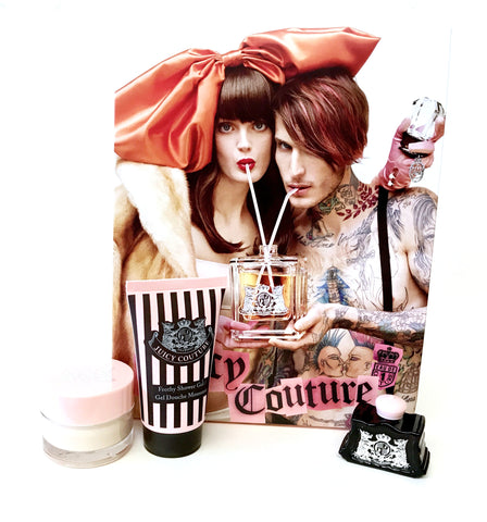Juicy Couture for Women Parfum Mini 0.17 oz + Shower Gel + Body Cream - Gift Set - Cosmic-Perfume