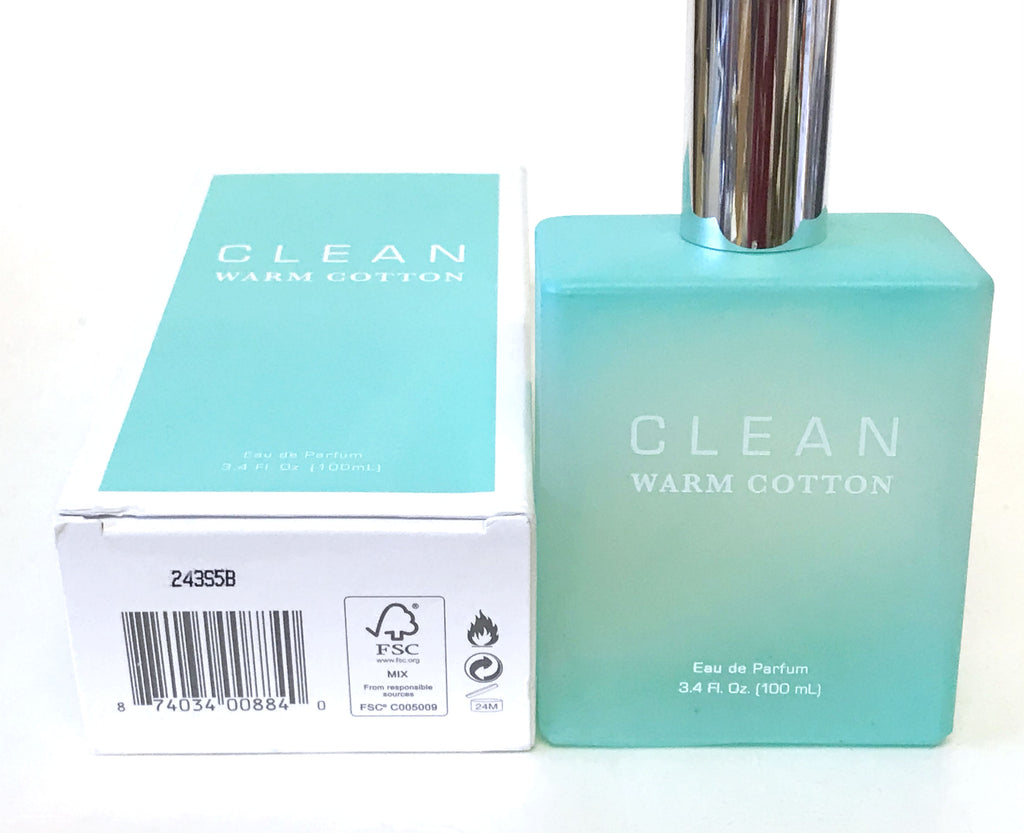 Clean Warm Cotton for Women Eau de Parfum Spray 3.4 oz *Worn Box