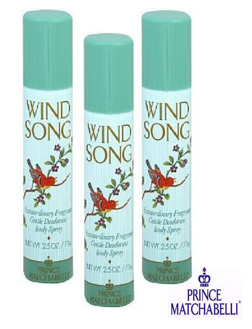Wind Song Prince Matchabelli Extraordinary Fragrance Body Spray 2.5 oz (3 Pack) - Cosmic-Perfume
