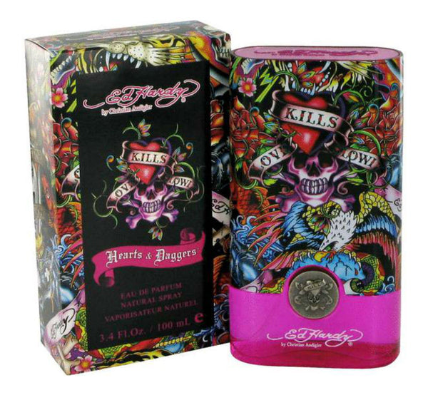 Ed Hardy By For Men Eau De Toilette Spray 3 4 Ounces: Hearts & Daggers For Women By Ed Hardy Eau De Parfum Spray 3.4 Oz