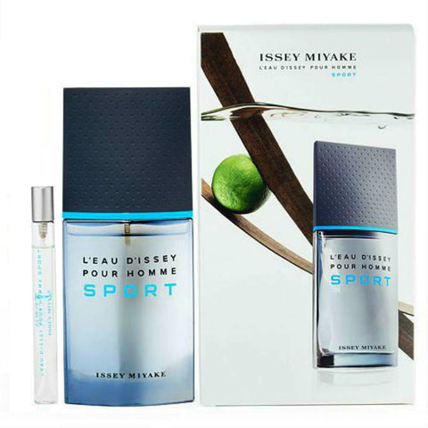 L'EAU D'ISSEY MEN SPORT by Issey Miyake EDT Spray 3.3 oz + 0.33 oz Set - Discount Fragrance at Cosmic-Perfume