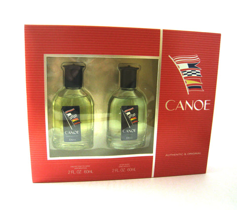Canoe for Men by Dana EDT Spray 2.0 oz + After Shave Splash 2.0 oz Set - Cosmic-Perfume
