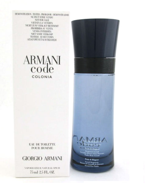 Armani Code Colonia for Men by Giorgio Armani EDT Spray 2.5 oz (Tester) - Cosmic-Perfume