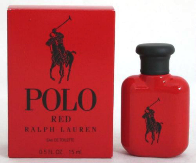 Polo RED for Men by Ralph Lauren EDT Miniature Splash 0.5 oz (New in Box)