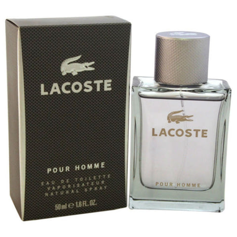 Lacoste Pour Homme (Grey) for Men Eau de Toilette Spray 1.6 oz - Discount Fragrance at Cosmic-Perfume