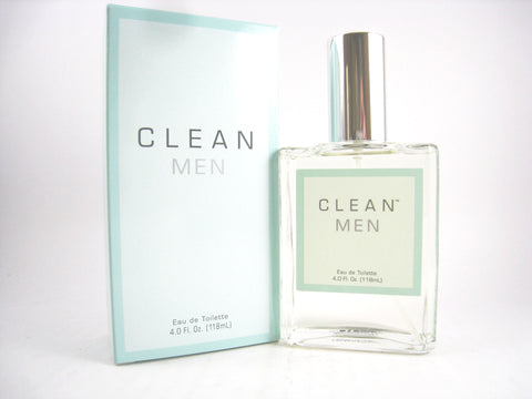 Clean for Men EDT Spray 4.0 oz - Discount Fragrance at Cosmic-Perfume