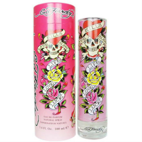 Ed Hardy Love Kills Slowly for Women by Christian Audigier EDP Spray 3.4 oz - Discount Fragrance at Cosmic-Perfume