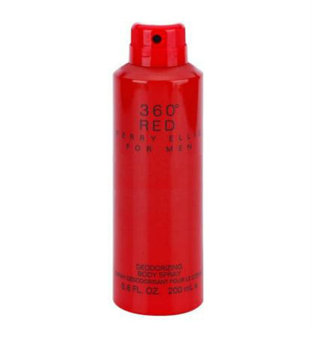 360 Red for Men by Perry Ellis Deodorizing Body Spray 6.8 oz - Discount Bath & Body at Cosmic-Perfume