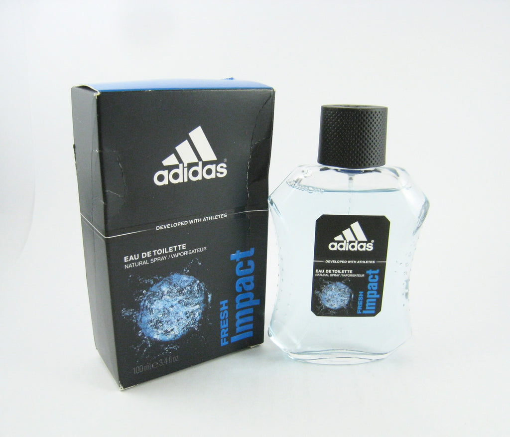 Adidas FRESH IMPACT for Men by Coty EDT Spray 3.4 oz (New In Dented Box) - Cosmic-Perfume