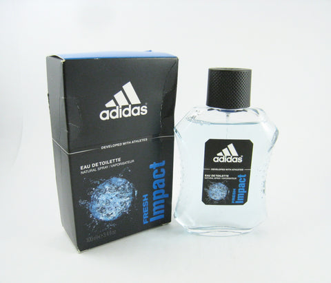 Adidas FRESH IMPACT for Men by Coty EDT Spray 3.4 oz (New In Dented Box) - Discount Fragrance at Cosmic-Perfume