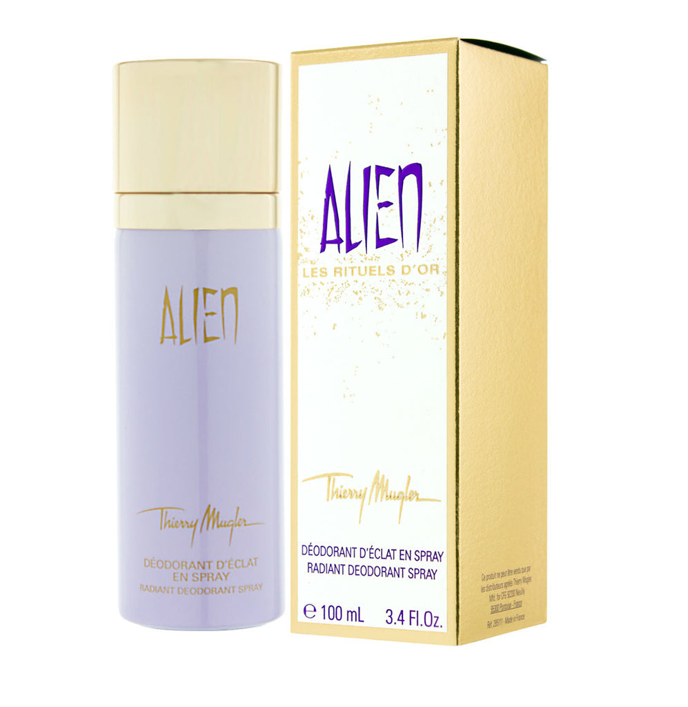 Alien for Women by Thierry Mugler Les Rituels D'Or Radiant Deodorant Spray 3.4 oz - Cosmic-Perfume