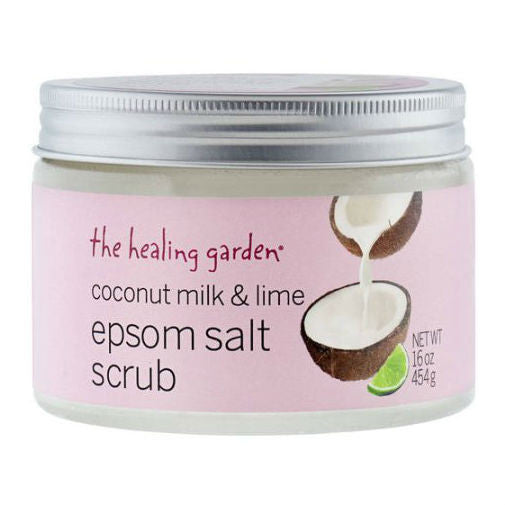 The Healing Garden Coconut Milk & Lime Epsom Salt Scrub 16.0 oz - Discount Bath & Body at Cosmic-Perfume