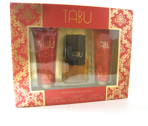 Tabu for Women by Dana Cologne Spray 1.2 oz + Lotion + Shower Gel Set - Discount Fragrance at Cosmic-Perfume