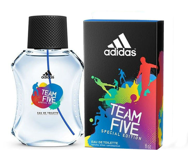 Adidas Team Five Special Edition for Men by Coty EDT Spray 3.4 oz - Cosmic-Perfume