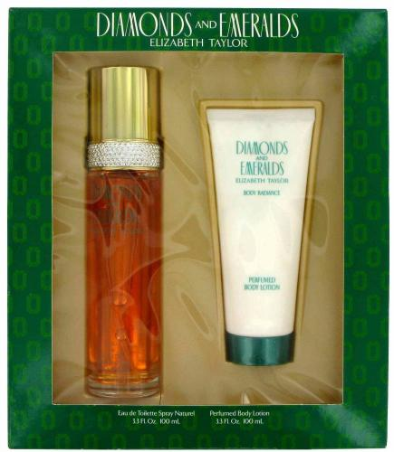 Diamonds & Emeralds for Women by Elizabeth Taylor 2 pc EDT Set