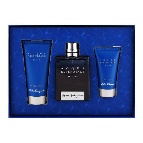 Acqua Essenziale Blu for Men by Salvatore Ferragamo 3 pc Set