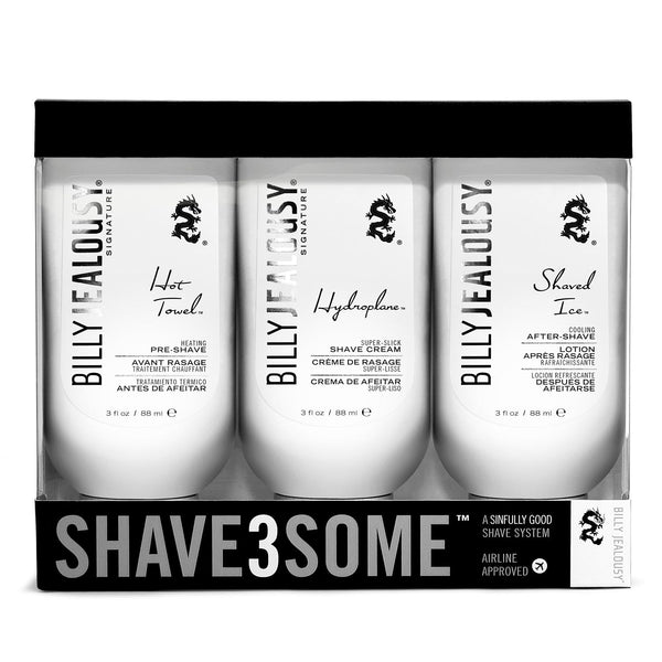 Billy Jealousy for Men Shave3Some Shave Kit 3 pc Set - Cosmic-Perfume