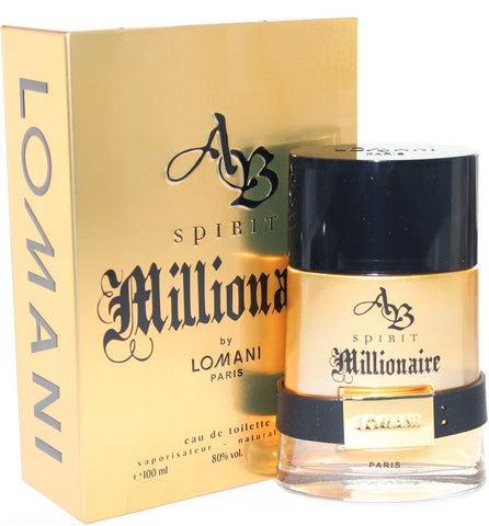 AB Spirit Millionaire for Men by Lomani EDT Spray 3.4 oz - Discount Fragrance at Cosmic-Perfume