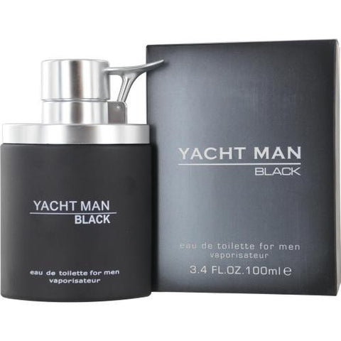 Yacht Man Black EDT Spray for Men 3.4 oz - Discount Fragrance at Cosmic-Perfume